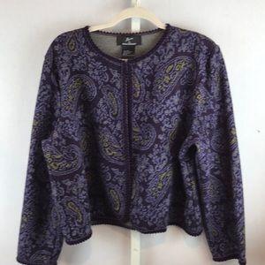 Lennie by Nina Leonard - Size XL Purple Jacket